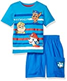 Nickelodeon Boys' 2 Piece Paw Patrol Tee and Twill Short Set, Blue, 18m