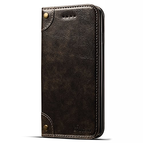 Leather Wallet Phone Case for iPhone X with Card Holder Kickstand Protective Flip Cover for iPhone 10 (for iPhone X (5.8 inches), Gray - 3 Card Slots) -  FLY HAWK, B076Y62WYS