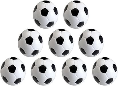 Vientiane 9 Piezas Mini 32 mm Mesa Futbolín, Balones de Fútbol, Pelota de Recambio de Protección Ambiental de Plástico para Juego de Juguete Infantil (Blanco Negro ...