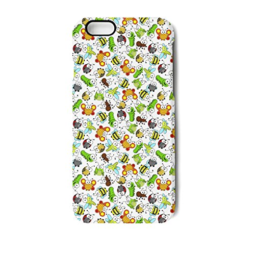 Funny Cartoon Insects Characters IPhone 7 IPhone 7 Plus Case Impact Shock Absorption Screen Protector