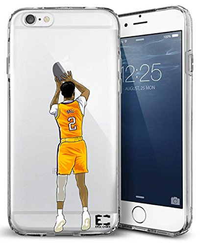 Iphone Apple Ball - iPhone6/6S iPhone 7/iPhone 8 Case Epic Cases Ultra Slim Crystal Clear Basketball Series Soft Transparent TPU Case Cover Apple- Big Baller Brand (iPhone 6/6s) (iPhone 7) (iPhone 8) (Ball, iPhone 6/7/8)