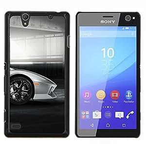 Lambo Galardo coche- Metal de aluminio y de plástico duro Caja del teléfono - Negro - Sony Xperia C4 E5303 E5306 E5353