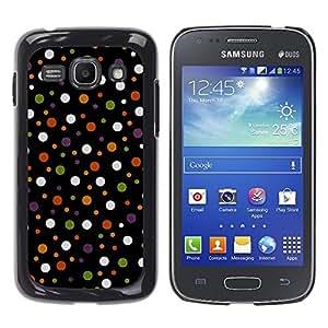 TopCaseStore / la caja del caucho duro de la cubierta de protección de la piel - Spots Polka Dot Design Fabric Pastel - Samsung Galaxy Ace 3 GT-S7270 GT-S7275 GT-S7272