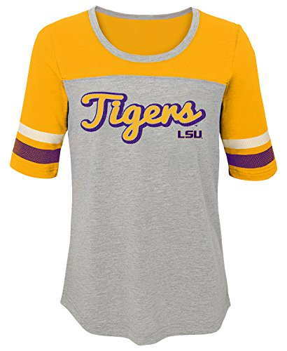 Striped Lsu Shirt Tigers (NCAA by Outerstuff NCAA Lsu Tigers Youth Girls