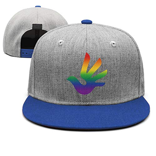 Blue Rainbow Dove LGBT Gay Pride Unisex Casual All Cotton Trucker Cap Adjustable Fits Hip Hop Snapback Hats