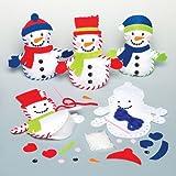 Kits de couture ami de Noël bonhomme de neige que les enfants pourront rembourrer, décorer et exposer pour Noël – Jouets de loisirs créatifs pour enfant et débutant (Lot de 3).