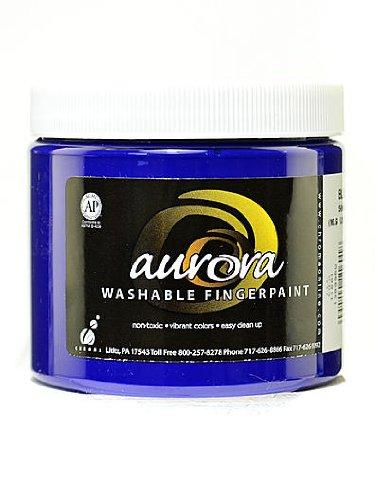 Chroma Inc. Aurora Washable Finger Paint blue [PACK OF 4 ]