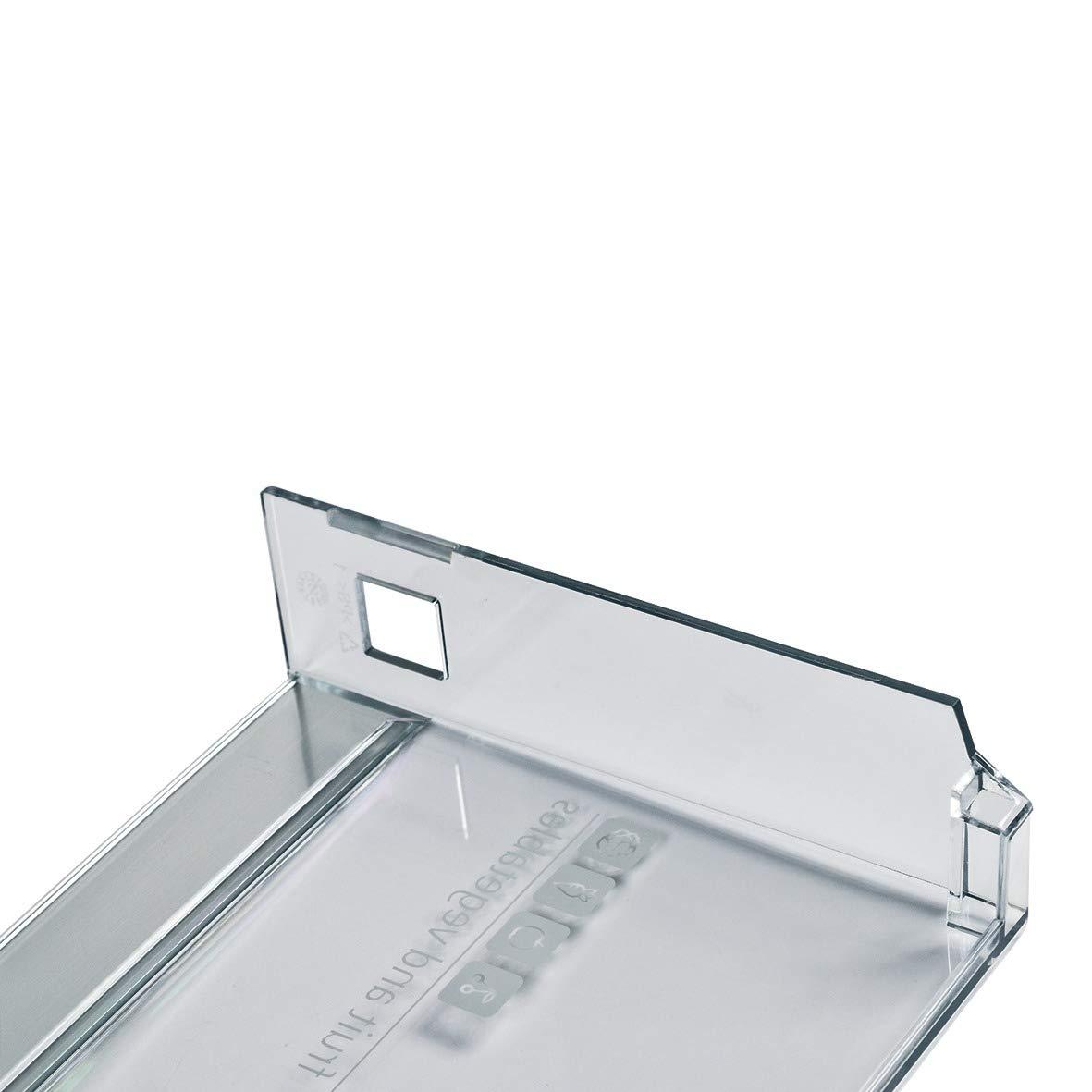 Bosch Siemens 12000349 ORIGINAL Schubladenblende Schubladengriffblende Gem/üseschubfachblende Abdeckung 460x165mm K/ühlschrank K/ühlautomat auch Neff Balay Constructa