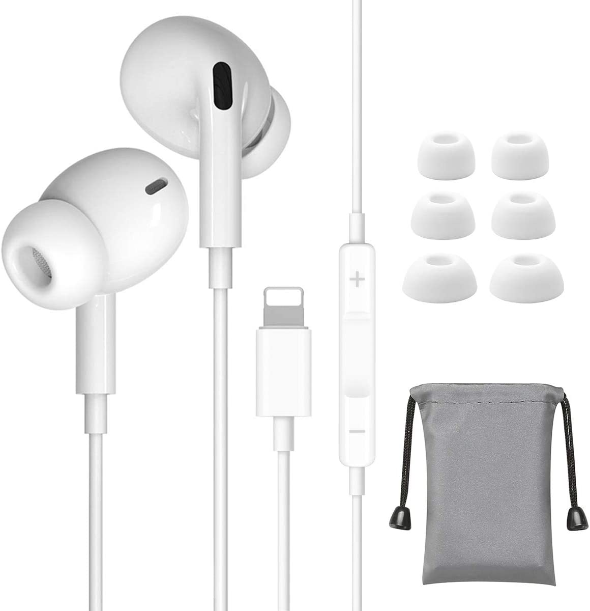 Earphones for iPhone, In Ear Headphones for iPhone 7 Noise Isolating Stereo Earbuds with Mic and Volume Control Compatible with iPhone 1111 Pro