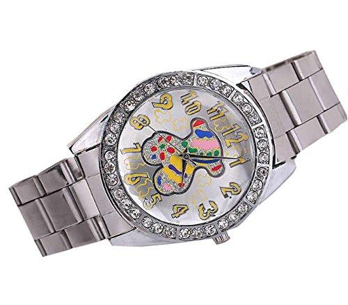 Winnie osito pequeno De acero inoxidable con Correa simple Reloj digital de chica de color amarillo Tous: Amazon.es: Relojes