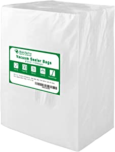 Premium!! MakMeFre 100 Pint Size 6x10Inch Vacuum Sealer Bags for Food Saver,Seal a Meal Vac Sealers,BPA Free,Heavy Duty,Sous Vide Vaccume Safe,Upgrade Design Pre-Cut Bag