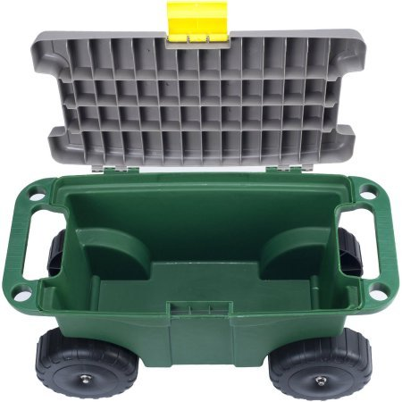 Pure Garden 20'' Plastic Garden Storage Cart and Scooter