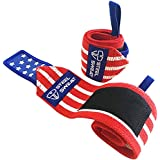 """Steel Sweat Wrist Wraps by Best for Weight Lifting, Powerlifting, Gym and CrossFit Training - Heavy Duty Support in Sizes 14"""" 18"""" 24"""""""