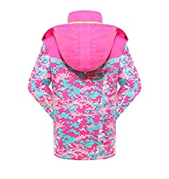 Roseate Girls 3-in-1 Jacket with Fleece Liner Outdoor Winter Outerwear Pink 12