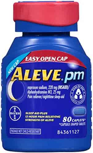 Aleve PM Easy Open Cap Caplets, 80 Count