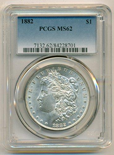 1882 Morgan Silver Dollar MS62 PCGS