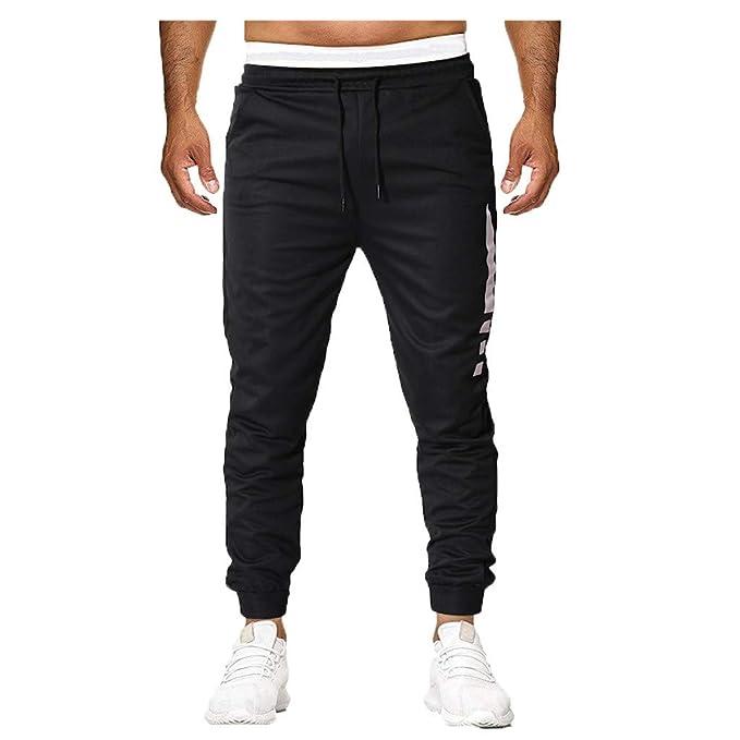Moda Color SóLido Pantalones Largos para Hombre Sueltos Casuales ...