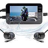 LANCERTECH Motorcycle Dash Cam 4.0' IPS LCD WiFi APP Waterproof Cameras and Body