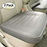honda accord seats - Edge Wrapping 2pc Car front Seat Cushion Cover Pad Mat for Auto Supplies Office Chair with PU Leather(Grey)
