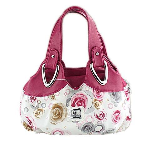 Womens Designer Purses and Handbags Ladies Shoulder Bags Top-Handle Satchel Tote Bags Purse (Pink)