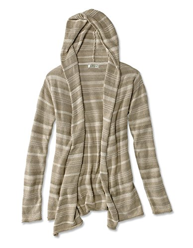 Orvis Women's Driftwood-Stripe Cardigan, Natural, Medium