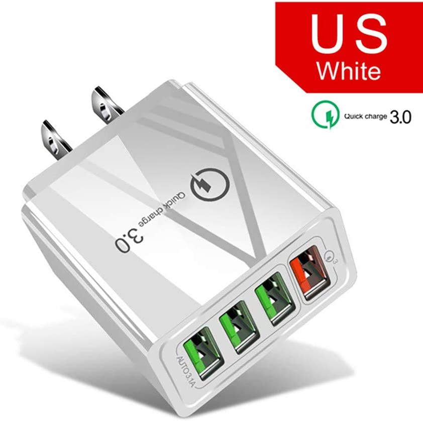 USB Wall Charger QC3.0 Phone Fast Charger US Plug QMs Quick Charge 5V 2.4A