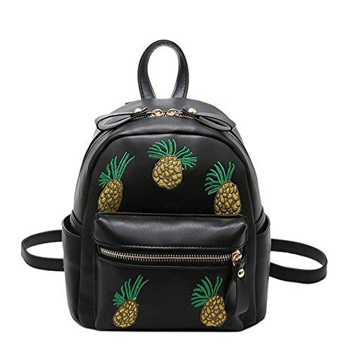 Skyseen Pineapple Pattern Backpack Casual Satchel Travel Daypack