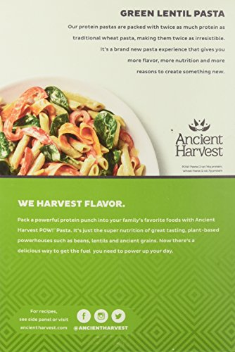 Ancient Harvest Pasta Penne Green Lentil 8 ounce - Pack of 6 by Ancient Harvest Quinoa (Image #4)