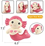 Aolige Jumbo Squishies Cute Red Mermaid Kawaii Cream Scented Very Slow Rising Decompression Squeeze Kids Simulation Toys