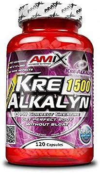 AMIX - Creatina Monohidrato - Kre-Alkalyn - 150 Cápsulas - Ideal para Deportistas - Complemento para Aumentar la Fuerza - Absorción Mejorada - ...