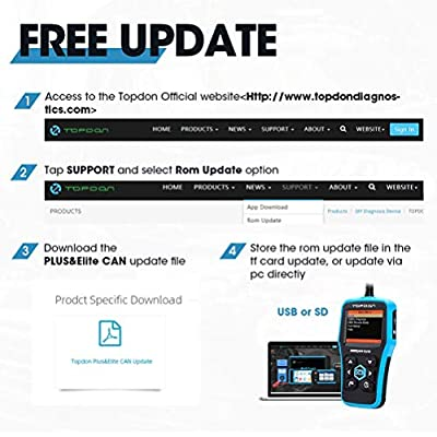 TOPDON Elite OBD2 Scanner ABS/SRS Diagnostic Tool for Full OBD2 Functions and ABS/SRS Warning Light Turn-off with Built-in DTC Lookup: Automotive