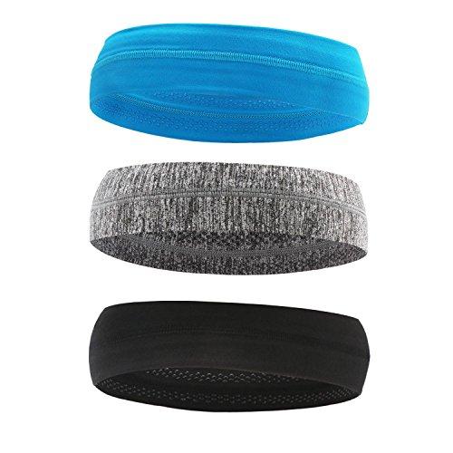 (Sport Headband, 3PCS Segarty Elastic Sweatband Wristband Set, Athletic Sweat Absorbing Head Bands for Men & Women, Yoga, Running, Workout, Tennis)
