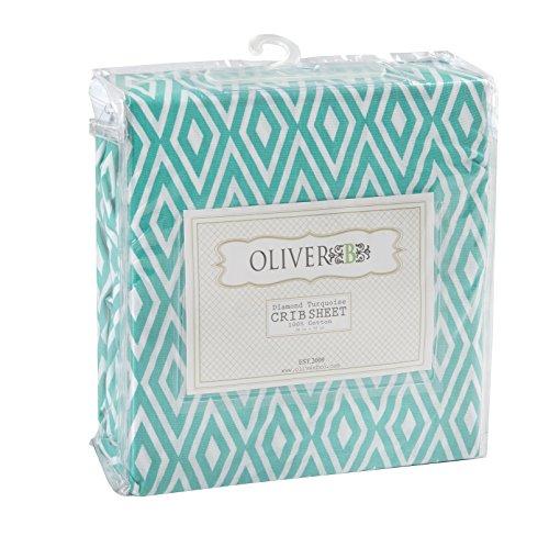 Oliver Sheet Nursery Bedding Turquoise product image