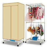 EasyGoProducts Wardrobe Dryer - Energy Saving Electric Lightweight Portable Clothes Dryer - 1000 Watt Ceramic Heater - Comp