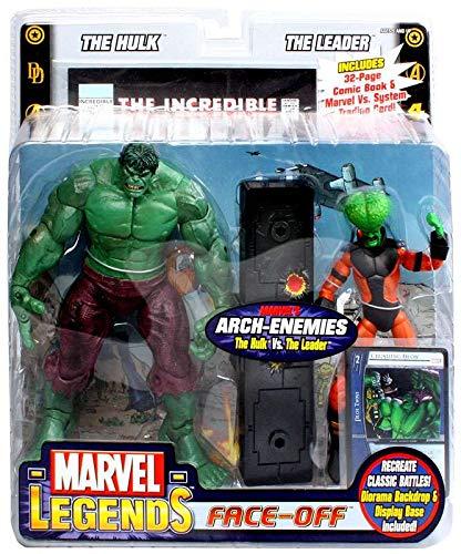 Marvel Legends Face Off Series 1 Action Figure Twin Pack Hulk vs. Leader