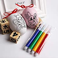 XuBa Water Color Pen DIY Painted Eggs Kids Cartoon Pattern Egg Toy Christmas Educational Toys Creative Gift for Children Easter Egg Random Color