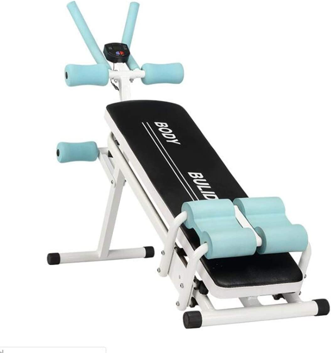 HUACHEN-LS Indoor Fitness Training Equipment Folding 2 in 1 Fitness Tool Adjustable Abdominal Trainer Home Gym Integrated Fitness Equipments Body Building Lose Weight,Fitness Equipment for Exercise