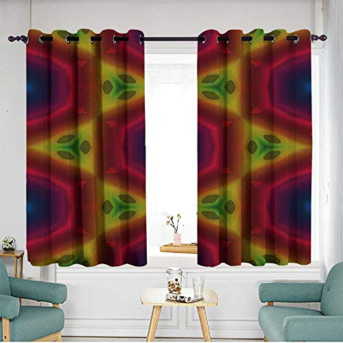 (home1love Indoor/Outdoor Curtains Great for Living Rooms & Bedrooms W 63