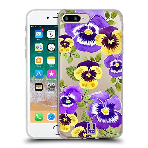 - Head Case Designs Pansies Watercolour Flowers 2 Soft Gel Case for iPhone 7 Plus/iPhone 8 Plus