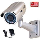 VideoSecu WDR Day Night Outdoor IR Zoom Security Camera 1/3 Pixim DPS Sensor High Resolution 690TVL IR-Cut Filter 4-9mm Varifocal Lens 48 Infrared LEDs OSD CCTV Home with Power Supply IR738WD CAB