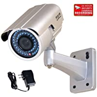 VideoSecu WDR Day Night Outdoor IR Zoom Security Camera 1/3 Pixim DPS Sensor High Resolution 690TVL IR-Cut Filter 4-9mm Varifocal Lens 48 Infrared LEDs OSD CCTV Home with Power Supply IR738WD CAB