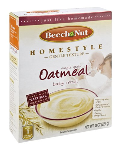 Beech Nut Homestyle Single Grain Oatmeal Baby Cereal 8 OZ (Pack of 8)