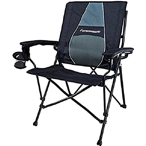 STRONGBACK Elite Folding Camping Chair With Lumbar Support Black