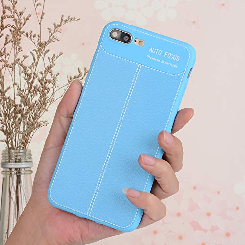 Amazon.com: Apple iPhone 7Plus Case,Full Body Protection Shockproof Cover,Soft TPU Litchi Skin Leather Phone Back Case iPhone 8Plus (SkyBlue): Cell Phones & ...
