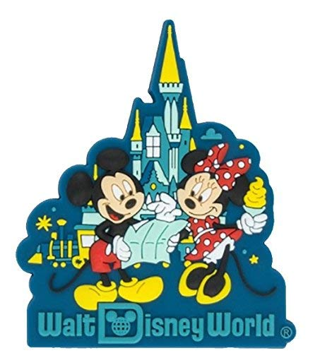 Disney Parks Walt Disney World WDW Mickey Minnie Cinderella Castle Magnet