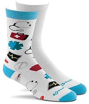 Fox River Damen Tech Scrubs leicht gepolsterte Crew Socken (2Pack) Assorted White Fox River Mills Inc. 6890 MD 09001 WHITE ASST.
