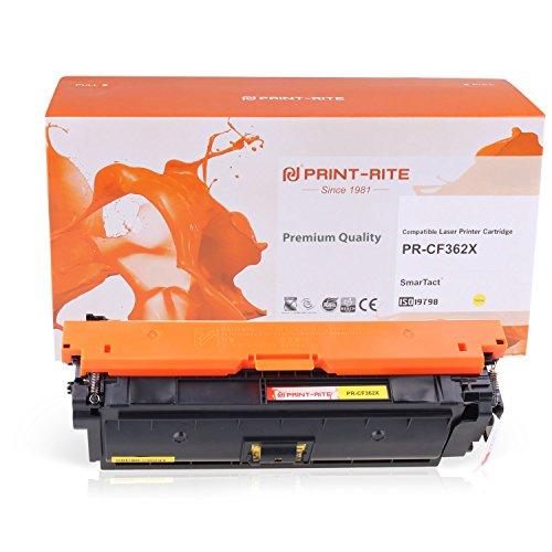 PRINT-RITE Toner Cartridge for 508X CF362X Yellow 9500 Page Yield for Color Laserjet Enterprise M552dn/M553n/M553dn/M553x ()