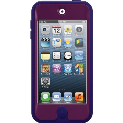 OtterBox DEFENDER series for Apple iPod Touch 5th Generation and NEW iPod Touch Case - Retail Packaging - Boom (Pop Pink/Violet Purple) (Discontinued by Manufacturer)