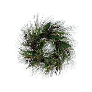 Silk Plants Direct Berry, Cedar, Cone, Pine and Leaf Wreath (Pack of 2) 43