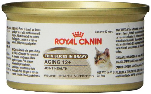 Royal Canin Feline Health Nutrition Aging 12+(Thin Slice in Gravy for Joint Health) canned cat food 24 – 3 oz cans 51u574QZlwL